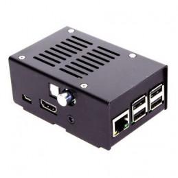 Ocelová krabička HiFiBerry pro Digi+, černá
