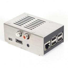 Ocelová krabička HiFiBerry pro DAC+ (RCA), broušený kryt