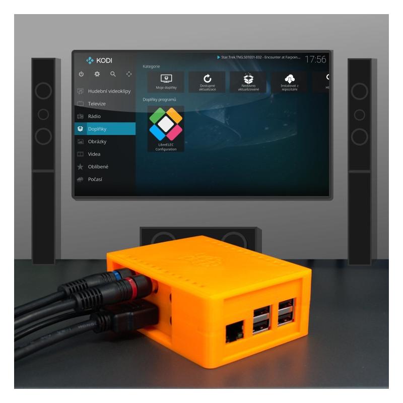 LibreELEC (KODI) RCA komplet, oranžová