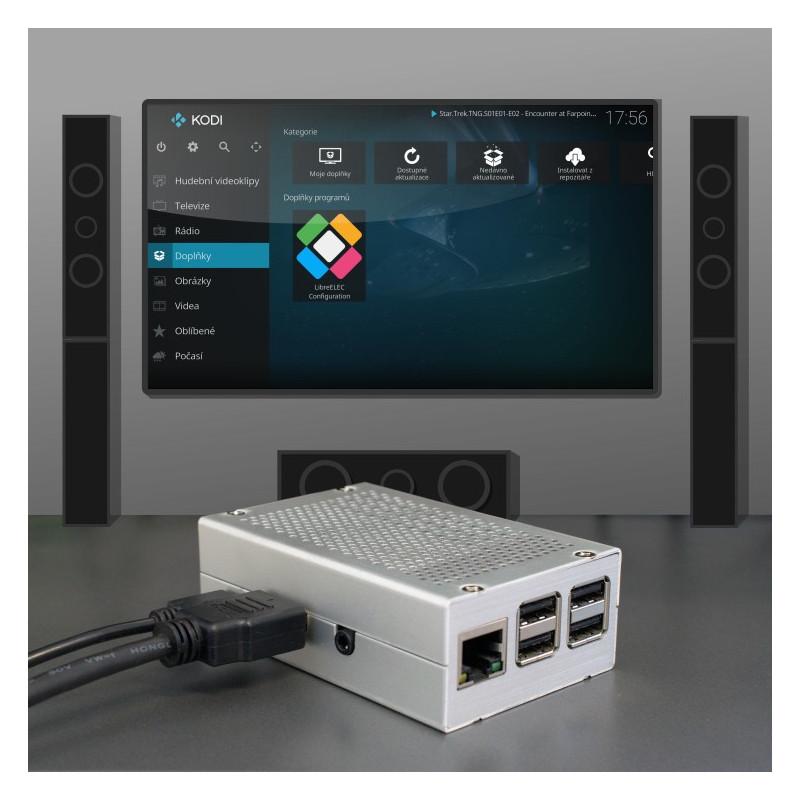 LibreELEC (KODI) HDMI komplet, stříbrná