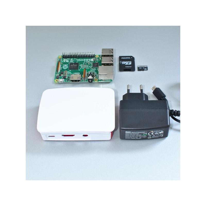 Výhodná sada Raspberry Pi 2, 8GB karta, 2A zdroj, oficiální, bílá