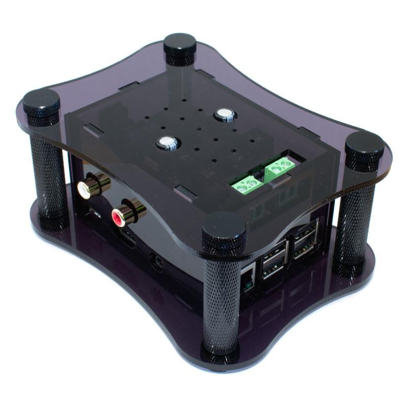 Akrylová krabička pro RPi + Boss + Volt, černá