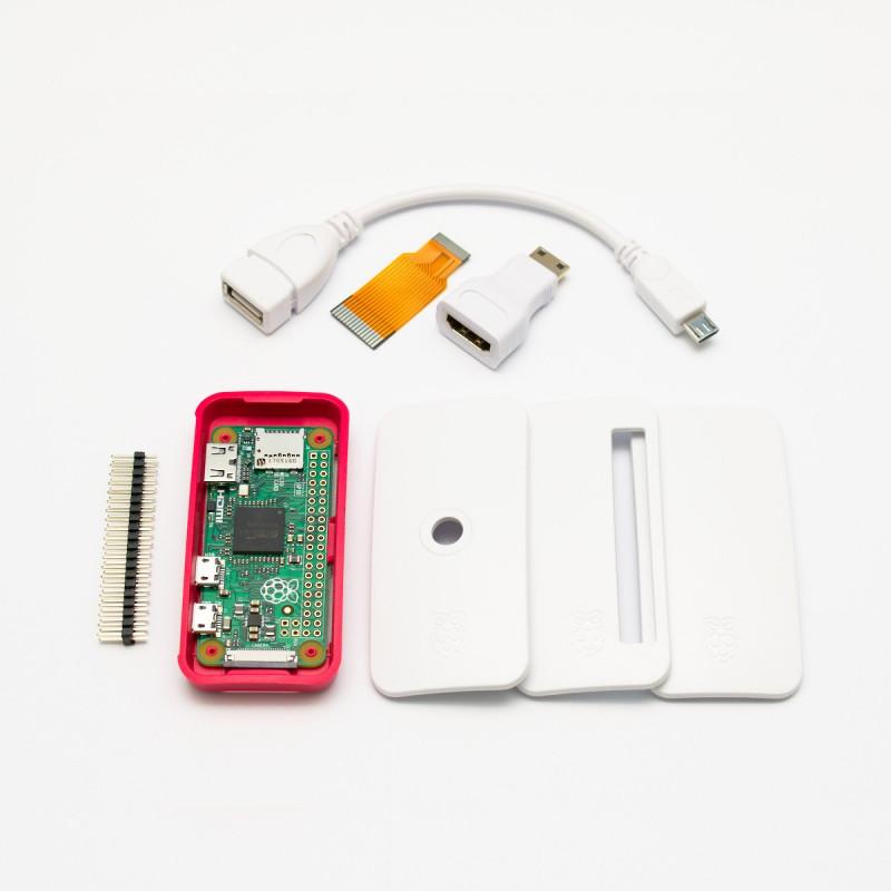 Raspberry Pi Zero + adaptéry + oficiální krabička