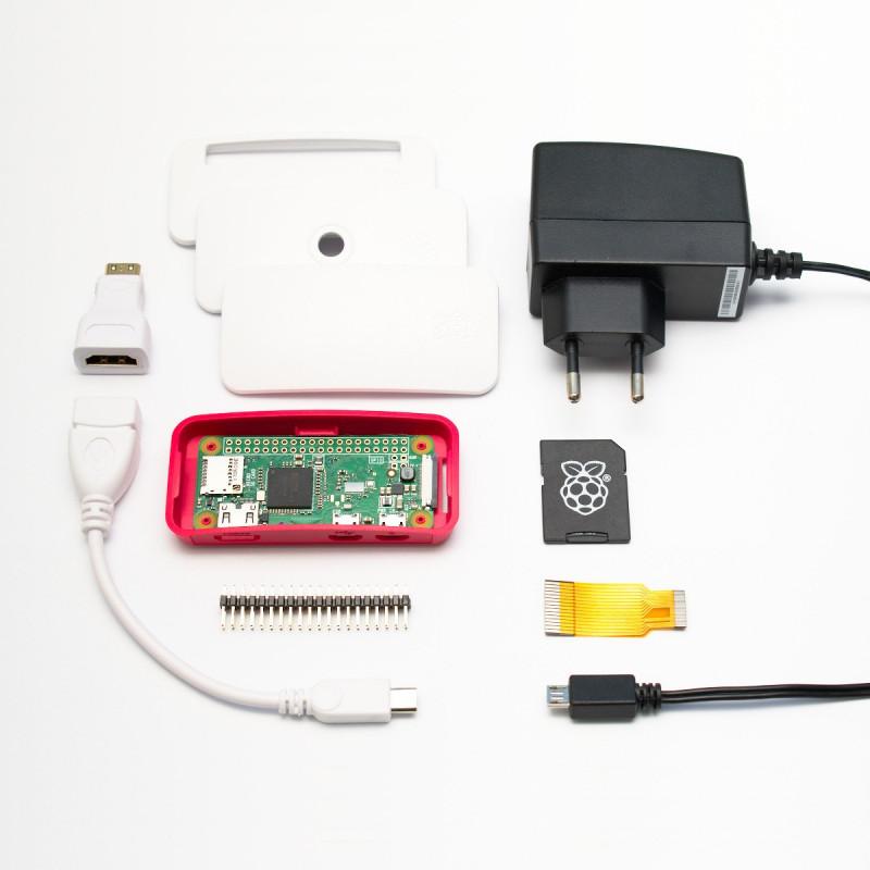 Raspberry Pi Zero W + adaptéry + oficiální krabička + karta a zdroj