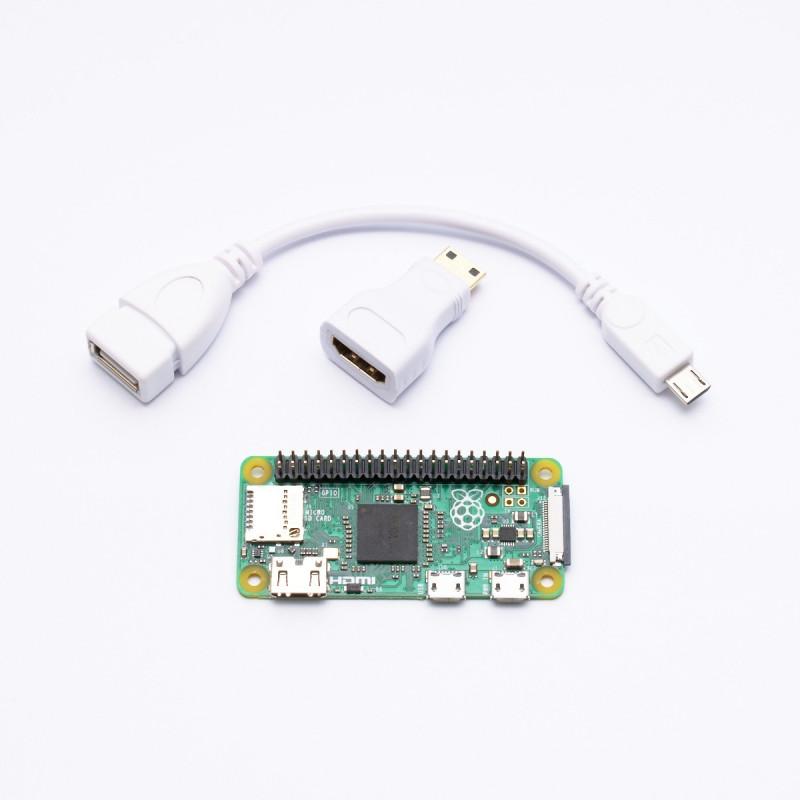 Osazené Raspberry Pi Zero + adaptéry