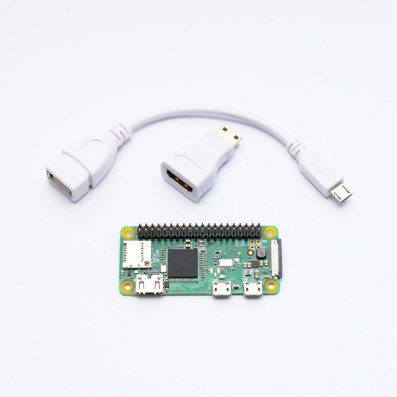 Osazené Raspberry Pi Zero W + adaptéry