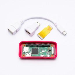 Osazené Raspberry Pi Zero W + adaptéry + oficiální krabička