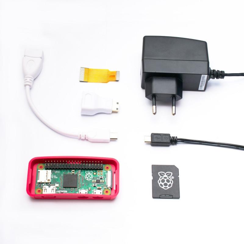 Osazené Raspberry Pi Zero + adaptéry + oficiální krabička + karta a zdroj