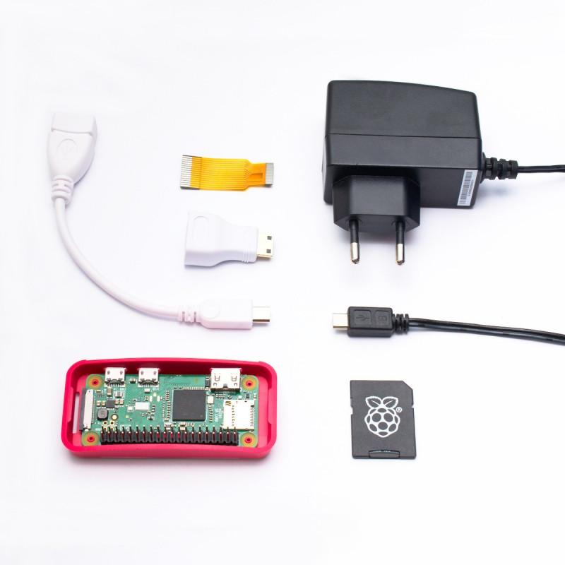Osazené Raspberry Pi Zero W + adaptéry + oficiální krabička + karta a zdroj