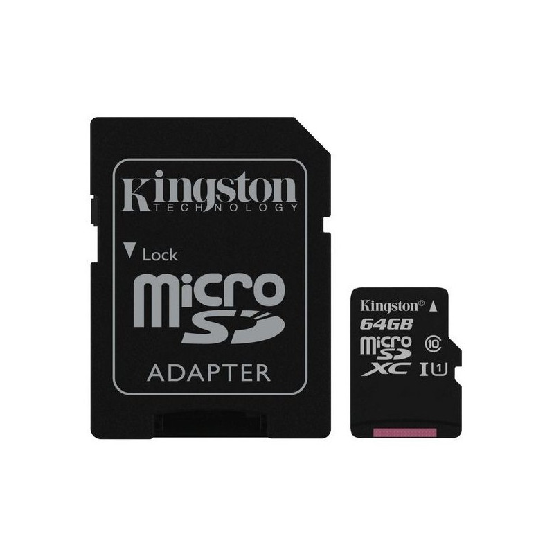 Kingston 64GB microSDXC UHS-I U1 SDC10G2/64GB + SD adaptér