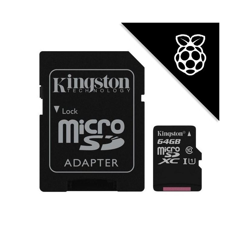 NOOBS + Kingston 64GB microSDXC UHS-I U1 SDC10G2/64GB + SD adaptér