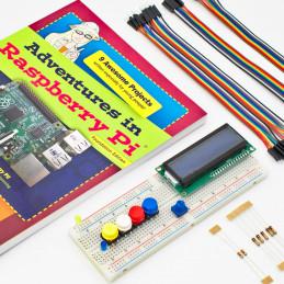 Kniha Adventures in Raspberry Pi (Foundation Edition) + sada součástek