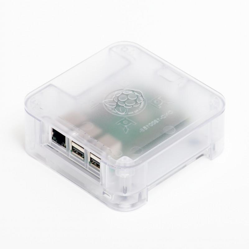 DesignSpark QUATTRO Premium Raspberry Pi Enclosure, Clear