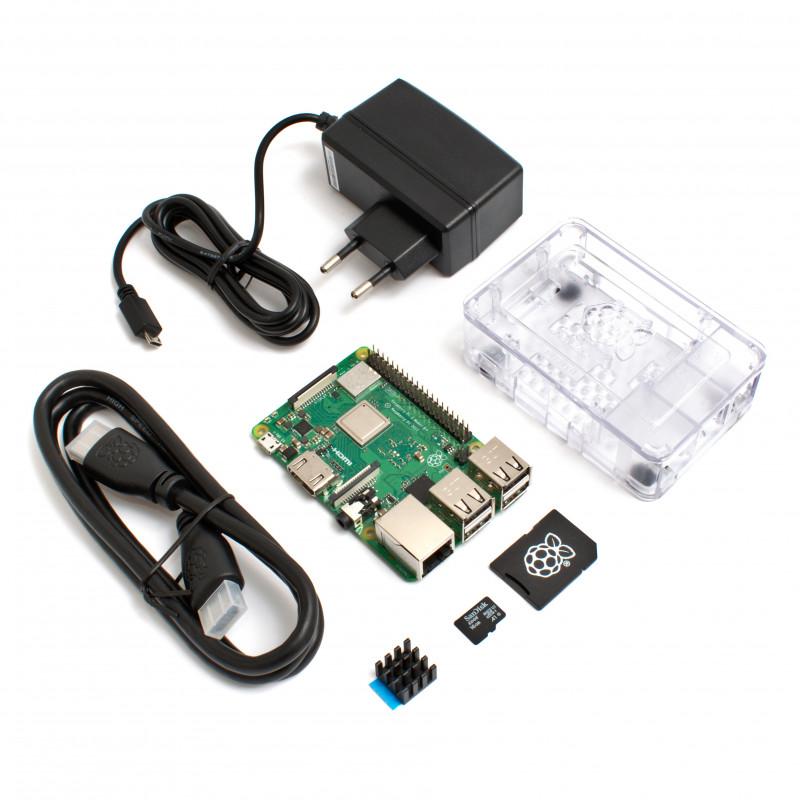 Raspberry Pi 3B+ EXTRA sada, průhledná