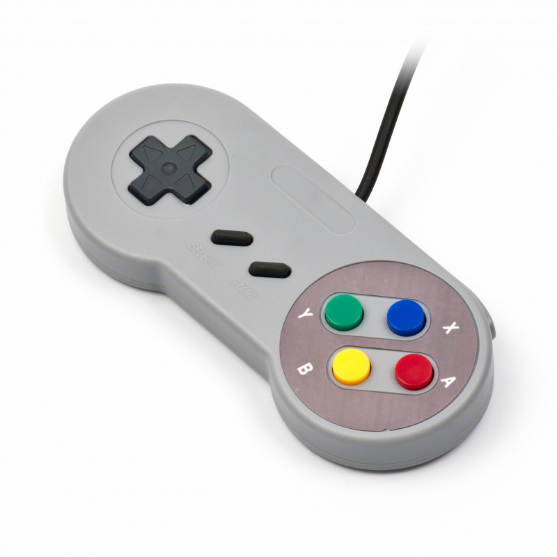 USB SNES Gamepad (retro), šedá