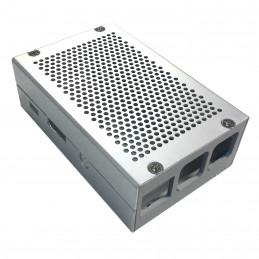 Frézovaná hliníková krabička - stříbrná