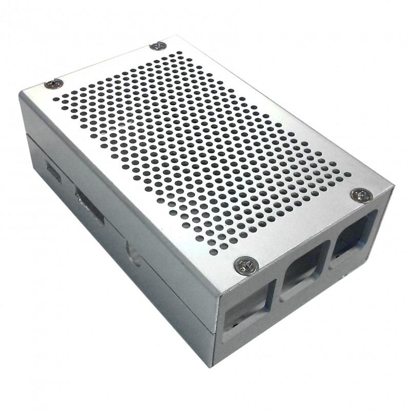 Frézovaná hliníková krabička, stříbrná