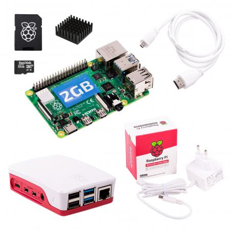 Oficiální Raspberry Pi 4B/2GB sada, bílá