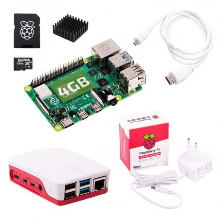 Oficiální Raspberry Pi 4B/4GB sada, bílá