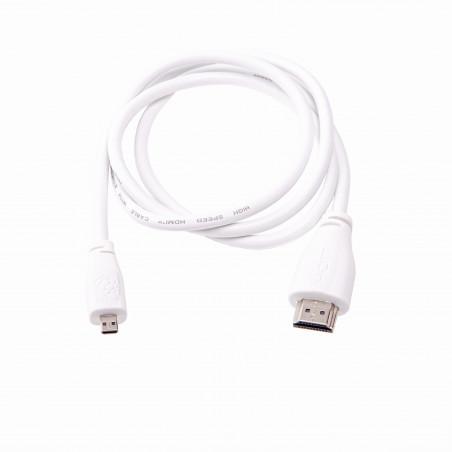 Raspberry Pi microHDMI kabel - 2 m, bílá