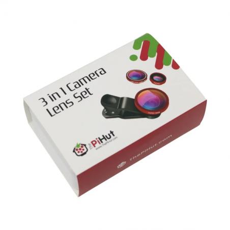 Sada kamerových čoček 3 v 1 pro Raspberry Pi kameru