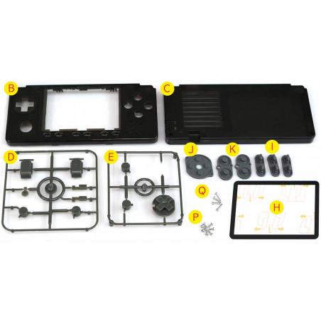 Krabička a tlačítka pro ODROID GO-Advance V2, Aura black