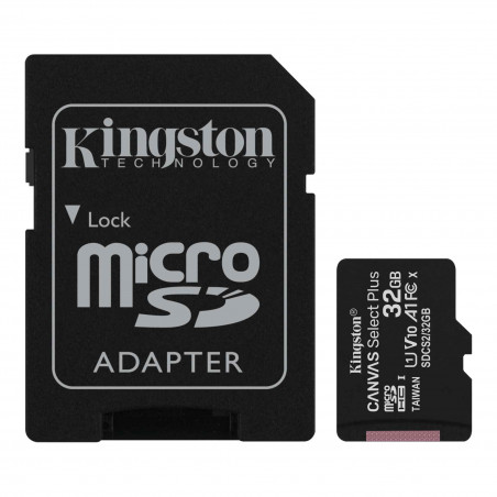 Kingston 32GB micSDHC Canvas Select Plus 100R A1 C10 karta + ADP