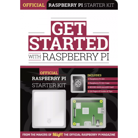 Kniha Get Started with Raspberry Pi + RPi 3A+ Starter kit