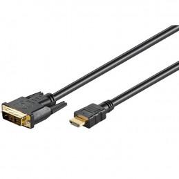 HDMI - DVI kabel, zlacený,...