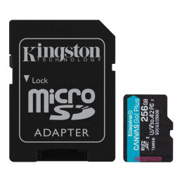 Kingston 256GB microSDXC Canvas Go Plus 170R A2 U3 V30 karta + ADP