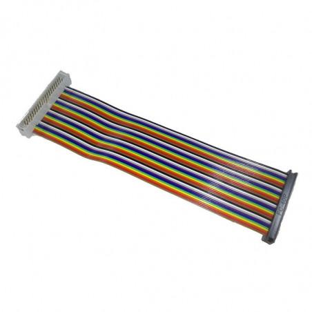 40žilový GPIO plochý kabel, duhový, male - female