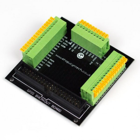 Raspberry Pi GPIO Breakout Board with Paddle Terminals