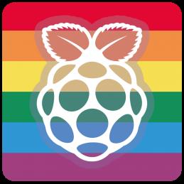 Raspberry Pi samolepka...