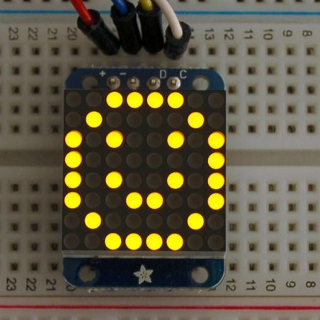 "Mini 0,7"" 8x8 LED matice s I2C, žlutá"