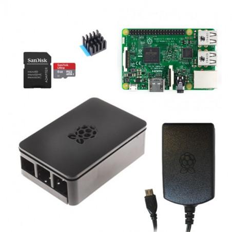 Raspberry Pi 3B sada, Onenine, černá