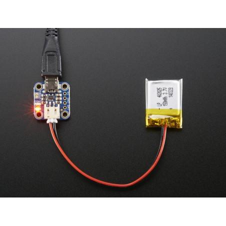 Micro Lipo s microUSB konektorem - nabíječka LiIon/LiPoly baterií