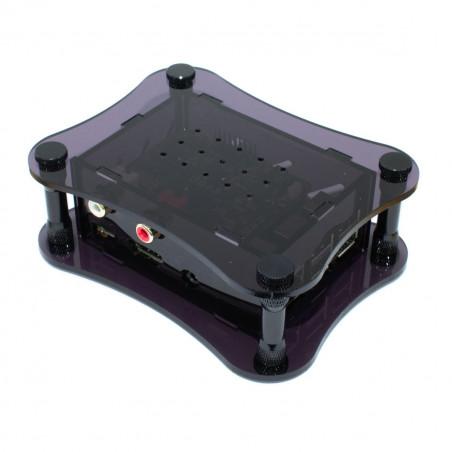 Akrylová krabička pro RPi + Boss, černá