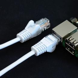 Síťový kabel, 1m, bílá