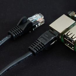 Síťový kabel, 1m, černá