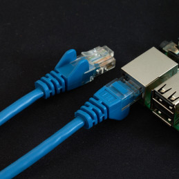 Síťový kabel, 1m, modrá