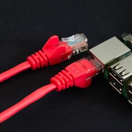 Síťový kabel, 1m, červená