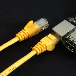 Síťový kabel, 1m, žlutá