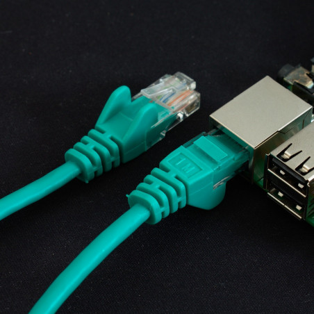 Síťový kabel, 1m, zelená