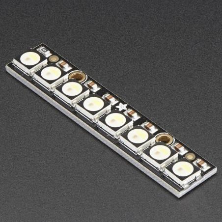 NeoPixel Stick 8 x 5050 RGBW LED - Warm White ~3000K