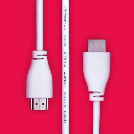 Raspberry Pi HDMI kabel, bílá, 1 m