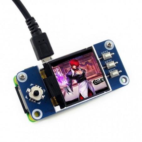 "Waveshare 128x128p, 1.44"" pHAT LCD displej s joystickem a 3 tlačítky"