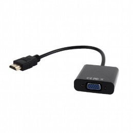 Gembird HDMI to VGA and audio adapter cable, single port, black