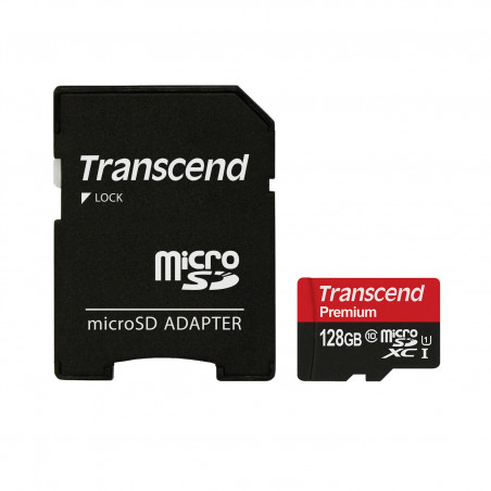 NOOBS + 128GB Transcend Premium microSDXC UHS-I U1 TS128GUSDU1 + SD adaptér