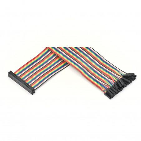 40žilový GPIO plochý kabel, duhový, female - jumper female