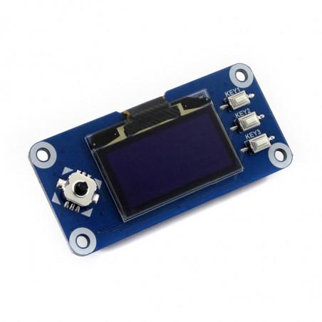 "Waveshare 128x64, 1.3"" pHAT OLED displej s joystickem a 3 tlačítky"